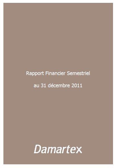 Rapport semestriel 2011-2012